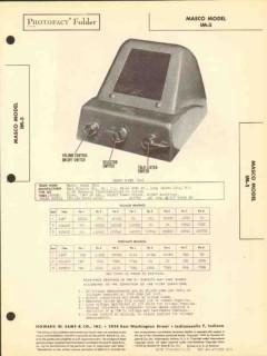 masco model im-5 3 tube ac-dc intercom system sams photofact manual