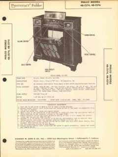 philco model 48-274 am fm sw radio receiver sams photofact manual