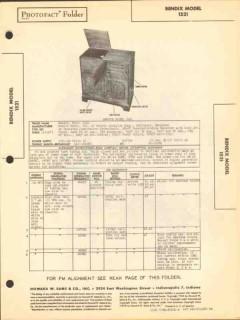 bendix model 1521 8 tube am fm radio phono sams photofact manual