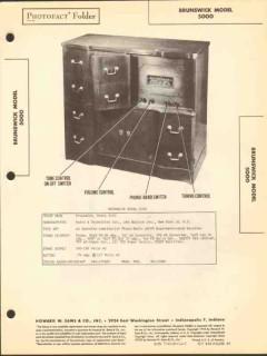 brunswick model 5000 11 tube am fm phono sams photofact manual
