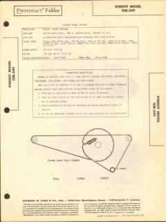 allied radio knight model 10b-249 am fm receiver sams photofact manual