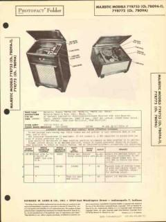majestic models 7yr753 7yr772 radio phono record sams photofact manual