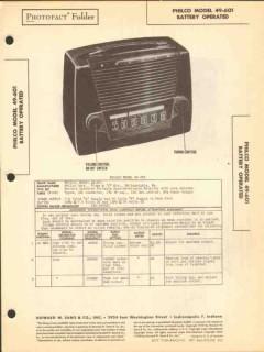 philco model 49-601 4 tube am radio receiver sams photofact manual