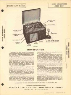 brush soundmirror model bk401 tape recorder sams photofact manual