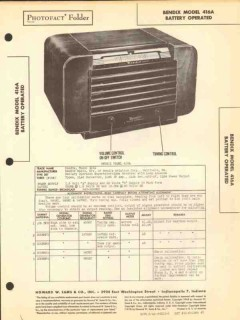 bendix model 416a 4 tube am radio receiver sams photofact manual