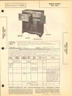 bendix models 1531 1533 6 tube am sw radio phono sams photofact manual