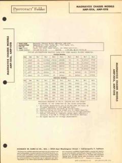 magnavox model amp-101a 6 tube audio amplifier sams photofact manual