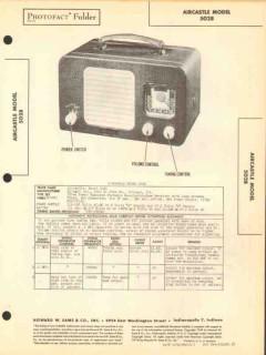 aircastle model 5028 5 tube am radio receiver sams photofact manual