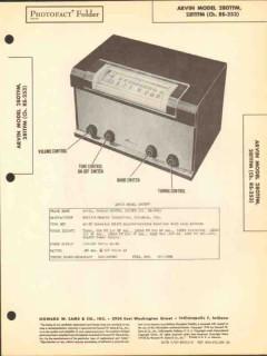 arvin models 280tfm 281tfm 8 tube am fm radio sams photofact manual