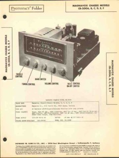 magnavox model cr-200a am fm radio receiver sams photofact manual