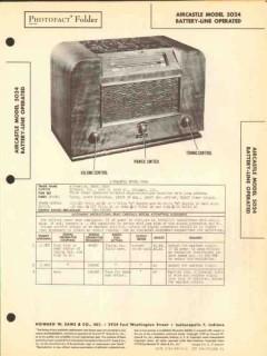 aircastle model 5024 4 tube am radio receiver sams photofact manual