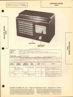 aircastle model 5052 5 tube am radio receiver sams photofact manual