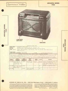 aircastle model 7553 5 tube am radio receiver sams photofact manual