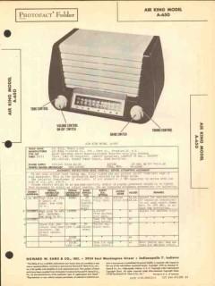 air king model a-650 6 tube am fm radio receiver sams photofact manual