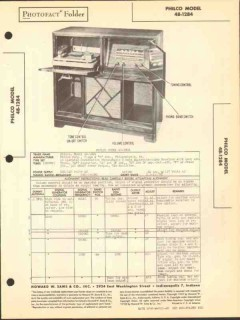 philco model 48-1284 7 tube am sw radio phono sams photofact manual
