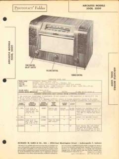 aircastle models 5008 5009 am radio receiver sams photofact manual