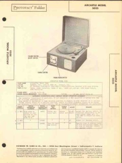 aircastle model 5035 5 tube am radio phonograph sams photofact manual