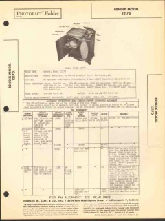 bendix model 1217d 14 tube am fm sw radio phono sams photofact manual