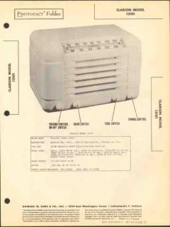 clarion model 13101 10 tube am fm radio receiver sams photofact manual