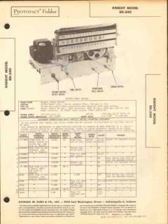 allied radio knight model 8d-340 am sw radio sams photofact manual