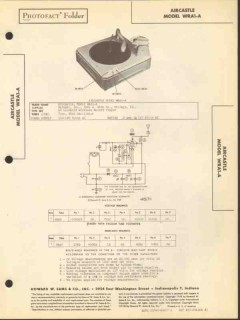 aircastle model wra1-a wireless record player sams photofact manual