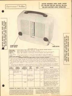 arvin models 241p 244p 2410p am radio receiver sams photofact manual