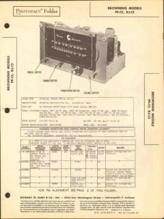 browning laboratories model pf-12 rj-12 am fm sams photofact manual