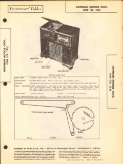 hoffman models c504 c514 am fm radio phonograph sams photofact manual