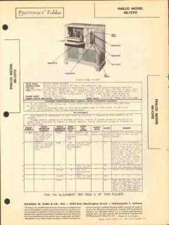 philco model 48-1290 am fm sw radio phono sams photofact manual