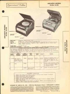aircastle models g-516 g-518 am radio phonograph sams photofact manual