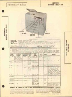 hoffman models c501 c511 am sw radio phonograph sams photofact manual
