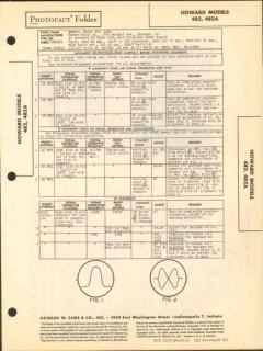 howard models 482 482a fm radio tuner sams photofact manual