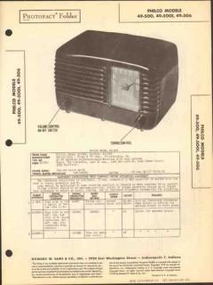 philco models 49-500 49-500i 49-506 am radio sams photofact manual