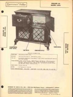 phillips 66 model 3-81a am fm sw radio phono sams photofact manual