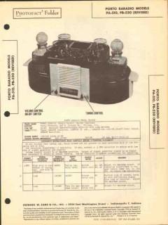 baradio models pa-510 pb520 am radio receiver sams photofact manual