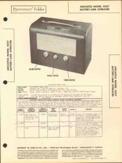 aircastle model 5027 4 tube am radio receiver sams photofact manual