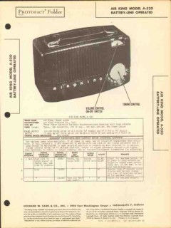 air king model a-520 portable am radio receiver sams photofact manual