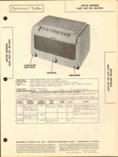 arvin models 160t 161t am radio receiver sams photofact manual