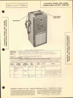 automatic model tom thumb camera-radio am recver sams photofact manual