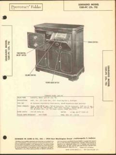 learadio model 1281-pc am fm radio phonograph sams photofact manual