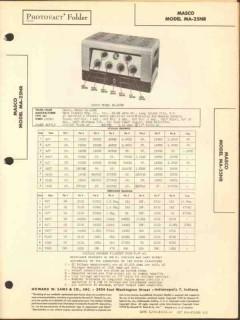masco model ma-25nr 9 tube 4 ch audio amplifier sams photofact manual