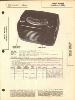 philco model 49-900-e 6 tube am radio receiver sams photofact manual