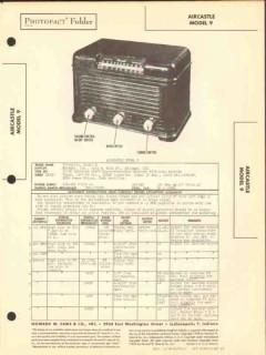 aircastle model 9 6 tube am fm radio receiver sams photofact manual