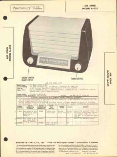 air king model a-625 6 tube am radio receiver sams photofact manual