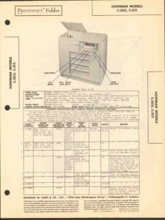 hoffman models c503 c513 am sw radio phonograph sams photofact manual