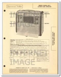 bendix model 687a 6 tube am radio receiver sams photofact manual