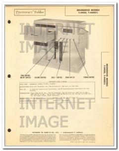 brunswick model t-4400 11 tube am fm radio phono sams photofact manual