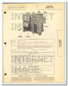hoffman model c518 am fw radio phono wire record sams photofact manual