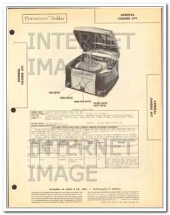 admiral model 6v1 6 tube am radio receiver phono sams photofact manual