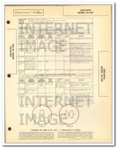 aircastle model sc-448 4 tube fm radio tuner sams photofact manual